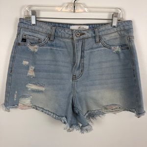 Kan Can Distressed Shorts M.